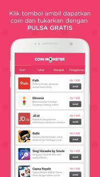 Coin Monster: Isi Pulsa Gratis apk screenshot