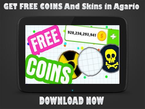 Coins and Skins for Agar io screenshot 1