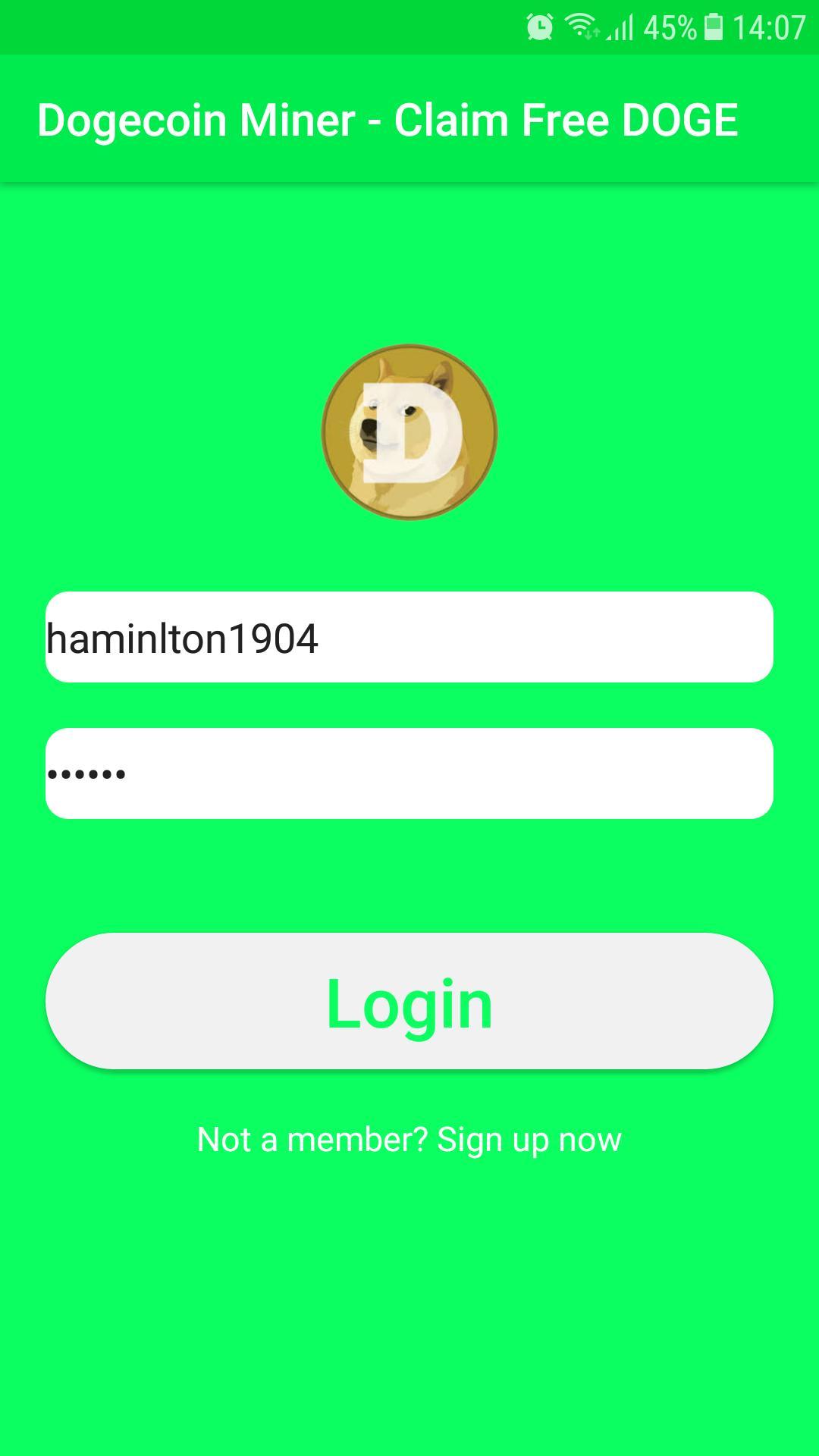 Echte Dojoin-Miner-App