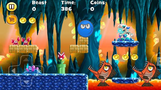 Blue Ball WOow : jungle adventure run screenshot 1