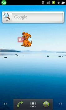 Sweet puppy battery widget apk screenshot