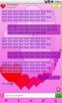 GO SMS PRO Lovely Hearts theme screenshot 3