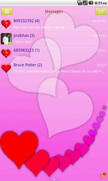 GO SMS PRO Lovely Hearts theme poster