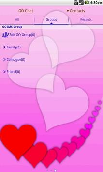 GO SMS PRO Lovely Hearts theme screenshot 2