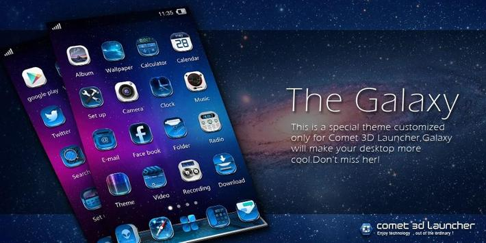 GALAXY COMET 3D LAUNCHER THEME poster