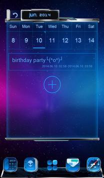3D Calendar-Comet 3D Launcher apk screenshot