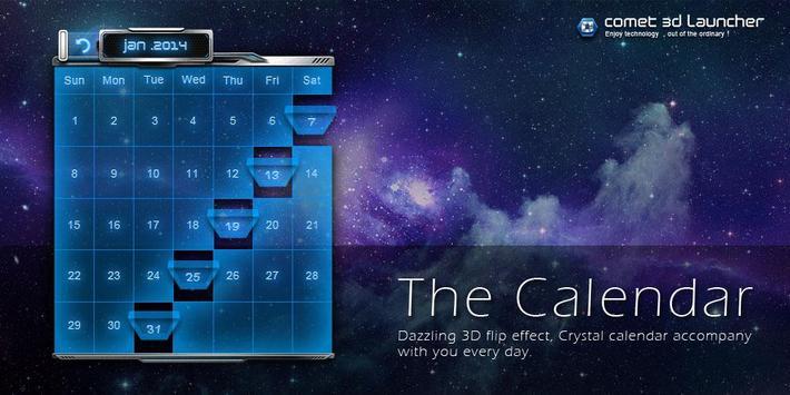 3D Calendar-Comet 3D Launcher poster