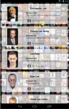 ActorsActresses FilmographyApp apk screenshot