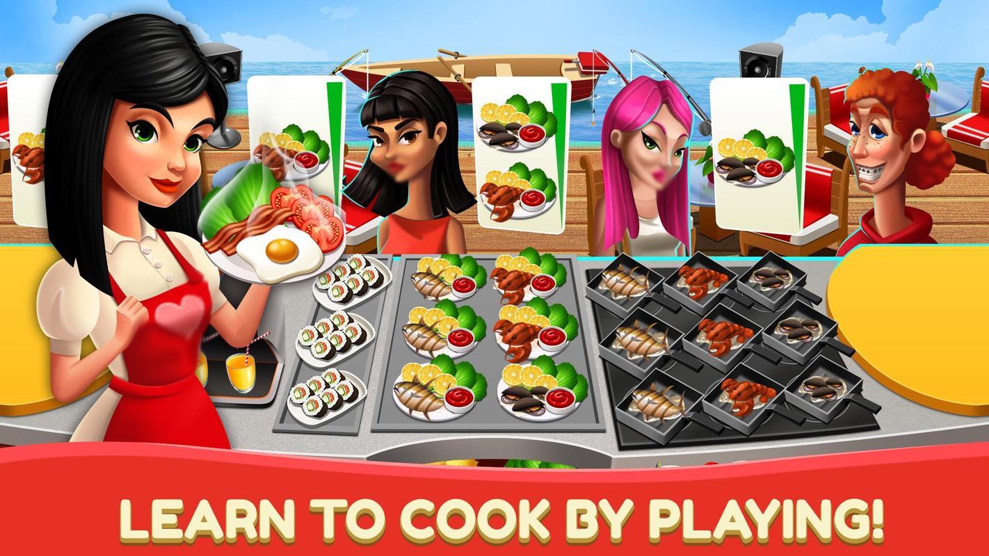 Game memasak dapur restoran pembuat makanan mania for android.
