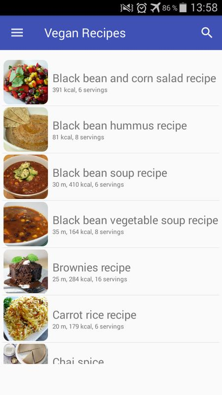Vegan recipes app with photo offline and free for android apk download vegan recipes app with photo offline and free captura de pantalla 2 forumfinder