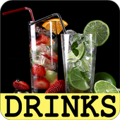 Drinks and cocktails recipes with photo offline icon