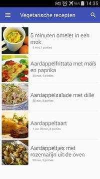 Vegetarische recepten nederlands app gratis poster