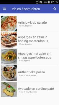 Vis en zeevruchten recepten app nederlands gratis poster