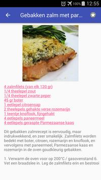 Vis en zeevruchten recepten app nederlands gratis screenshot 2