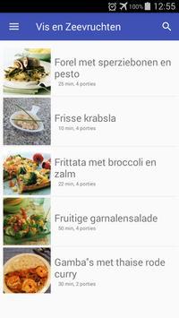 Vis en zeevruchten recepten app nederlands gratis screenshot 3
