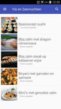 Vis en zeevruchten recepten app nederlands gratis screenshot 5