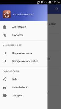 Vis en zeevruchten recepten app nederlands gratis screenshot 7