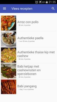 Vlees recepten app nederlands gratis screenshot 3