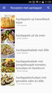 Recepten met aardappel app nederlands gratis poster