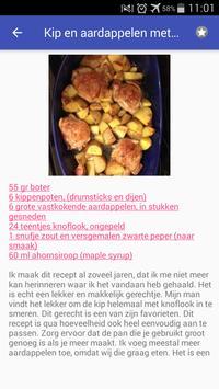 Recepten met aardappel app nederlands gratis screenshot 1