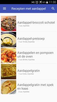 Recepten met aardappel app nederlands gratis screenshot 3