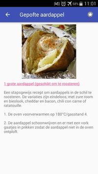 Recepten met aardappel app nederlands gratis screenshot 4