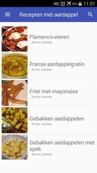 Recepten met aardappel app nederlands gratis screenshot 5