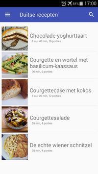 Duitse recepten app Nederlands gratis kookboek poster
