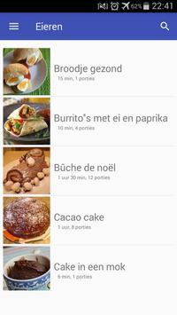 Eieren recepten app nederlands gratis poster