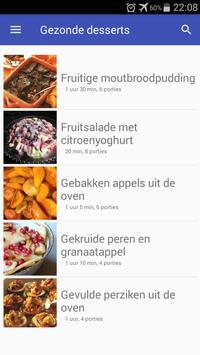 Gezonde desserts recepten app nederlands gratis poster