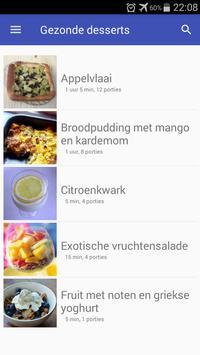 Gezonde desserts recepten app nederlands gratis screenshot 3