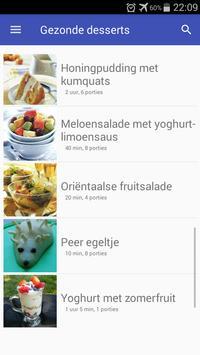 Gezonde desserts recepten app nederlands gratis screenshot 5