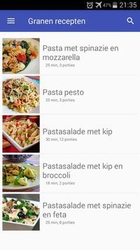 Granen recepten app nederlands gratis poster