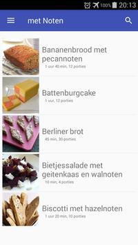 Recepten met noten app nederlands gratis screenshot 3