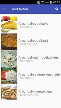 Recepten met noten app nederlands gratis poster