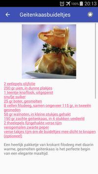Recepten met noten app nederlands gratis screenshot 1