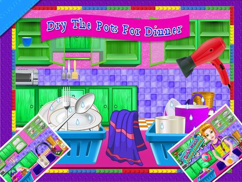 Dish Wash Kitchen Cleaning - Game for Girls screenshot 15