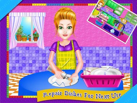 Dish Wash Kitchen Cleaning - Game for Girls screenshot 11