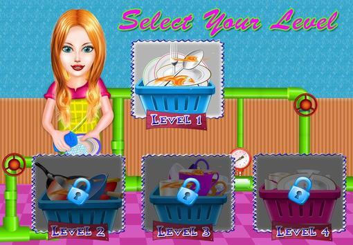 Dish Wash Kitchen Cleaning - Game for Girls screenshot 1