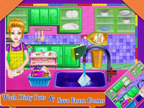 Dish Wash Kitchen Cleaning - Game for Girls screenshot 2
