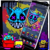 Cool Graffiti Cat Theme icon