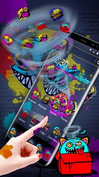 Cool Graffiti Cat Theme screenshot 4