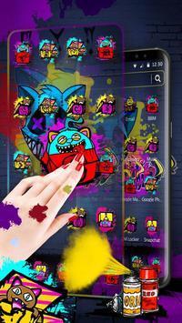 Cool Graffiti Cat Theme screenshot 8