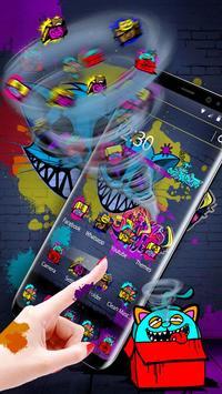 Cool Graffiti Cat Theme poster