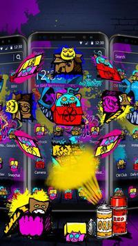 Cool Graffiti Cat Theme screenshot 2