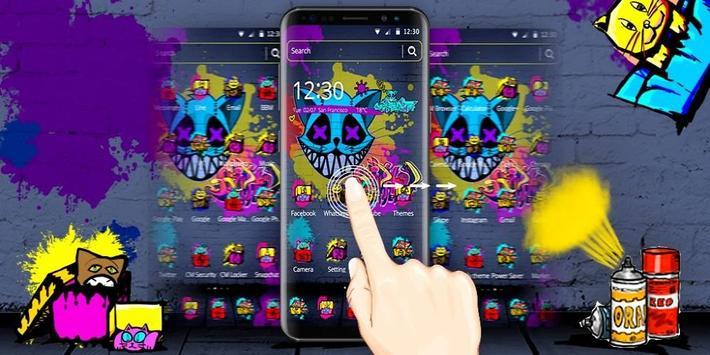 Cool Graffiti Cat Theme screenshot 3