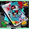 Cool Theme Skull Graffiti ikona
