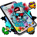 Cool Skull Graffiti Theme-APK