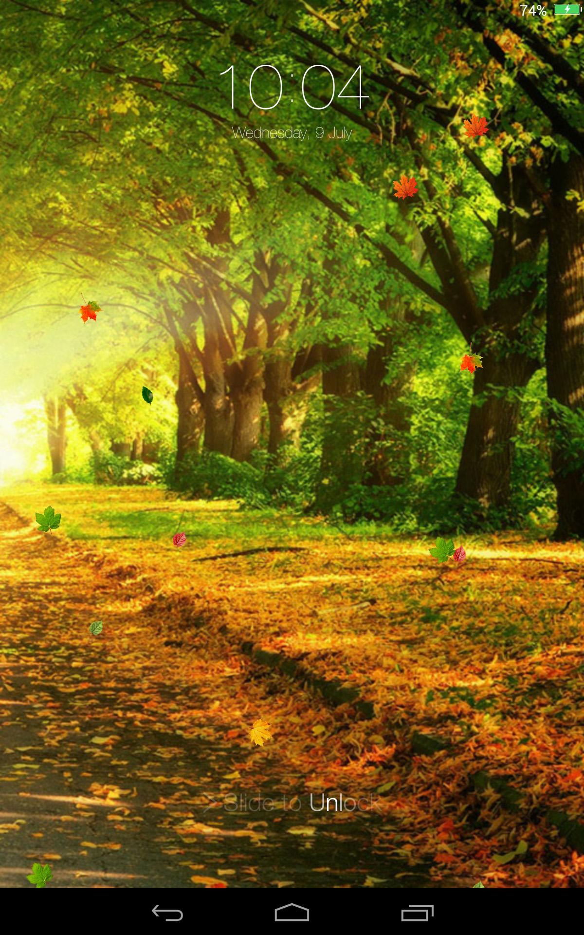 Falling Leaves Lock Screen For Android Apk Download