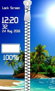 Lock Screen - Tropical Beach screenshot 12